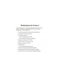 NR 324 Medications for Exam # 1