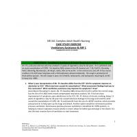NR 341 Week 2 Case Study; Ventilatory Assistance & Acute Respiratory Failure 1