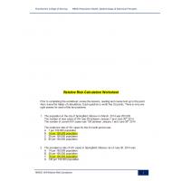 NR 503 WeeK 3 Assignment; Relative Risk Worksheet ► Summer 2016