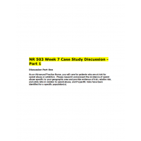 NR 503 Week 7 Case Study Discussion ► Summer 2016