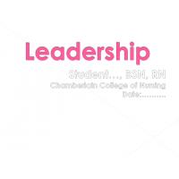 NR 504 Week 7 Assignment; Electronic Leadership Presentation → Summer 2016
