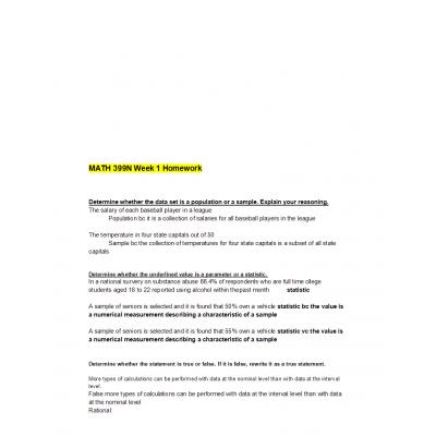 MATH 399N Week 1 Homework Solutions (Version 2): → Spring 2017