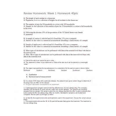 MATH 399N Week 1 Homework Solutions (Version 3): → Spring 2017
