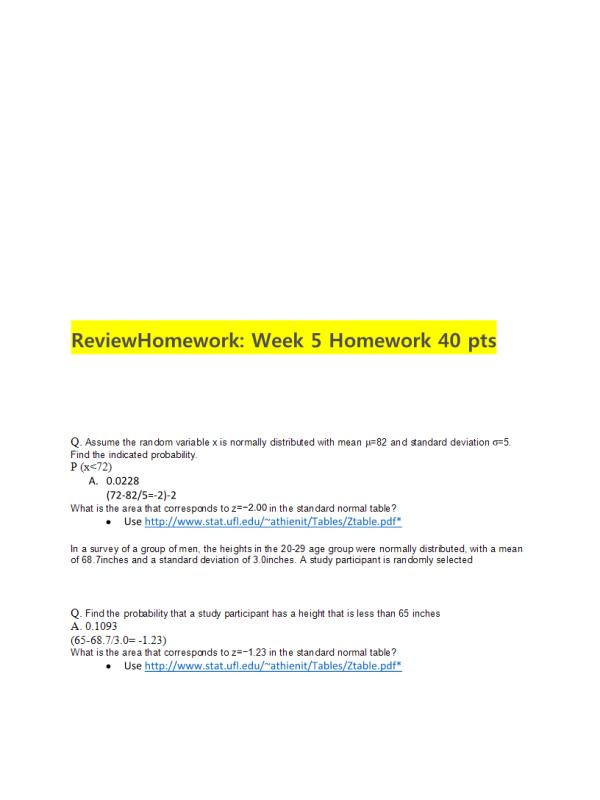 MATH 399N Week 5 Homework Solutions: → Spring 2017