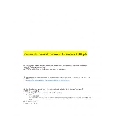 MATH 399N Week 6 Homework Solutions: → Spring 2017