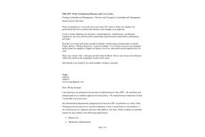 NRS 490 Topic 1 Assignment; Professional Capstone & Practicum Documentation: Spring 2020