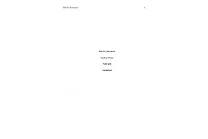 NRS 490 Topic 3 Assignment; PICOT Statement Paper (Version 1): Spring 2020