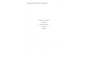 NRS 490 Topic 6 Assignment; Literature Review (Version 2): Spring 2020