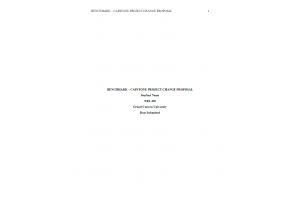 NRS 490 Topic 9 Assignment; Benchmark - Capstone Project Change Proposal: Spring 2020