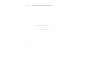 NRS 490 Topic 10 Assignment; Practice Hours Documentation (Version 2): Spring 2020