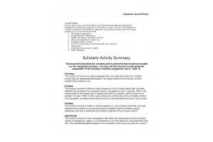 NRS 490 Topic 10 Material; Scholarly Activity - Summary Resource: Spring 2020