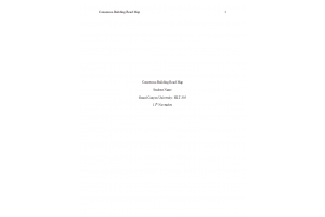 HLT 305 Topic 4 Assignment; Consensus-Building Road Map: Spring 2020
