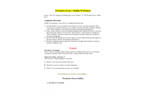 PHI 105 Topic 4 Assignment; Persuasive Essay; Outline Worksheet: Spring 2020