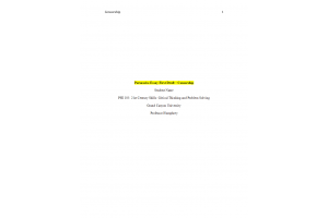 PHI 105 Topic 5 Assignment; Persuasive Essay First Draft; Censorship: Spring 2020