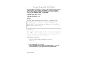 PHI 105 Topic 6 Assignment; Persuasive Essay; Peer Review Worksheet: Spring 2020