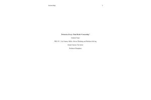 PHI 105 Topic 7 Assignment; Persuasive Essay; Final Draft - Censorship: Spring 2020