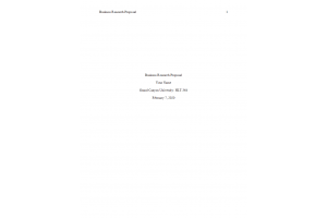 HLT 364 Topic 2 Assignment: Business Research Proposal