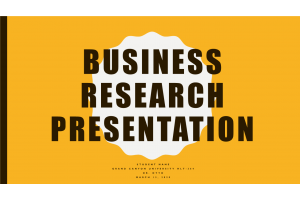 HLT 364 Topic 7 Assignment: Business Research Presentation