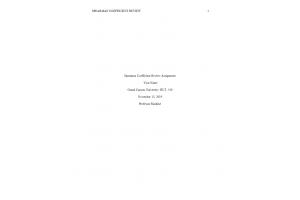 HLT 540 Topic 5 Assignment; Coyne and Messina Articles Part 3 - Spearman Coefficient Review: Spring 2020