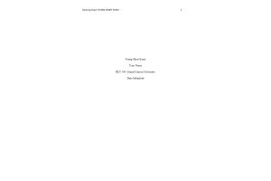 HLT 540 Topic 6 Assignment; Yeung Short Essay: Spring 2020
