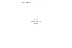 HLT 540 Week 8 Assignment; Proposal Development Paper: Spring 2020