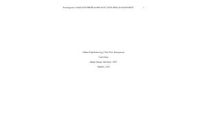 HLT 308V Topic 4 Assignment; Organizational Risk Management Interview  (Version 1): Spring 2020