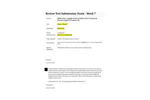 NURS 6521C-2 NURS-6521N-2, NURS-6521D-2 Exam - Week 7 Midterm; 100 out of 100 Points (Spring 2020)
