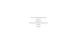 NURS 6051 Module 3 Assignment; The Impact of Standardized Nursing Terminology: Year 2020