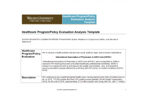NURS 6050 Module 6 Assignment; Global Healthcare Comparison Matrix and Narrative Statement: Year 2020