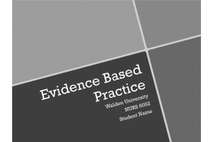 NURS 6052 Module 2 (Weeks 2-3) Assignment; Evidence-Based Project, Part 1; An Introduction to Clinical Inquiry: Spring 2021
