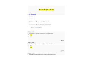 NURS 6052 Module 2 (Weeks 2-3) Quiz; Is It Quantitative, Qualitative, or Mixed Methods (May 2020)