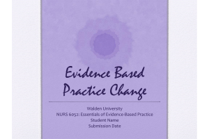NURS 6052 Module 5 Assignment; Evidence Based Project, Part 5: Recommending an Evidence-Based Practice Change