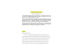 NURS 6053 Module 3 (Weeks 4-6) Discussion 1 (Main Post, Responses); Leadership Theories in Practice: Spring 2021