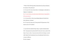 NURS 6521D-6, NURS-6521F-6, NURS-6521N-6-Advanced Pharmacology; Exam - Week 7 Midterm (100% Correct Spring Qtr)