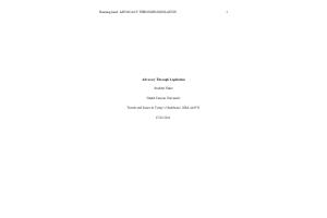 NRS 440VN Topic 4 Assignment; Advocacy Through Legislation: Summer 2021