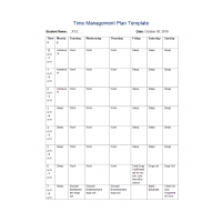 NR 351 Week 2 Assignment; Time Management Plan Template