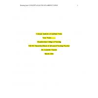 NR 501 Week 4 Assignment; Concept Analysis Paper → Summer 2016