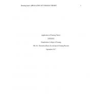 NR 501 Week 6 Assignment; Application of Nursing Theory (v1) → Fall 2017