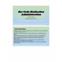NR 512 Week 6 Web Helath IT Topic; Bar Code Medication Administration (Presentation): Spring 2017
