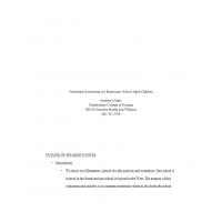 NR 228 Week 5 Nutritional Assessment Speaker Outline