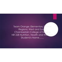 NR 228 Week 5 RUA Nutritional Assessment (Team Project); Final PowerPoint Presentation