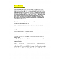 NR 305 Week 1 & Week 2 Discussion Questions: Spring 2015