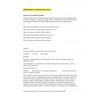 NR 305 Week 5 & Week 6 Discussion Questions: Spring 2015