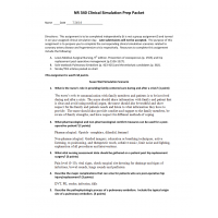NR 340 Week 6 Assignment - Clinical Simulation Prep Packet