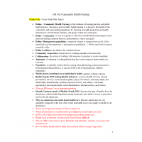 NR 442 Exam 1 Study Guide (Chapter One, Two, Six, Seven): Spring 2017