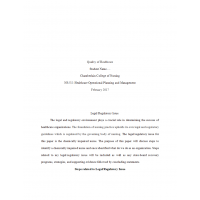 NR 532 Regulatory Issue Assignment Paper: Spring 2017