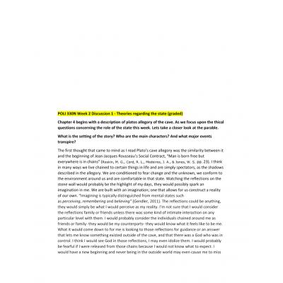 POLI 330N Week 2 Discussion Question 1 & 2