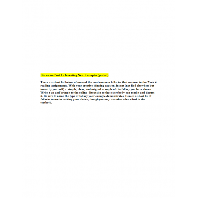 PHIL 447N Week 4 Discussion Question 1 - Inventing New Examples (graded)