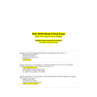 PHIL 447N Week 8 Final Exam (Multiple Choice)