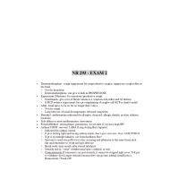 NR 293 Exam 2 Study Guide